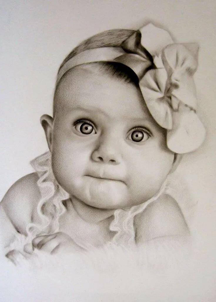 Картинки рисованные карандашом дети