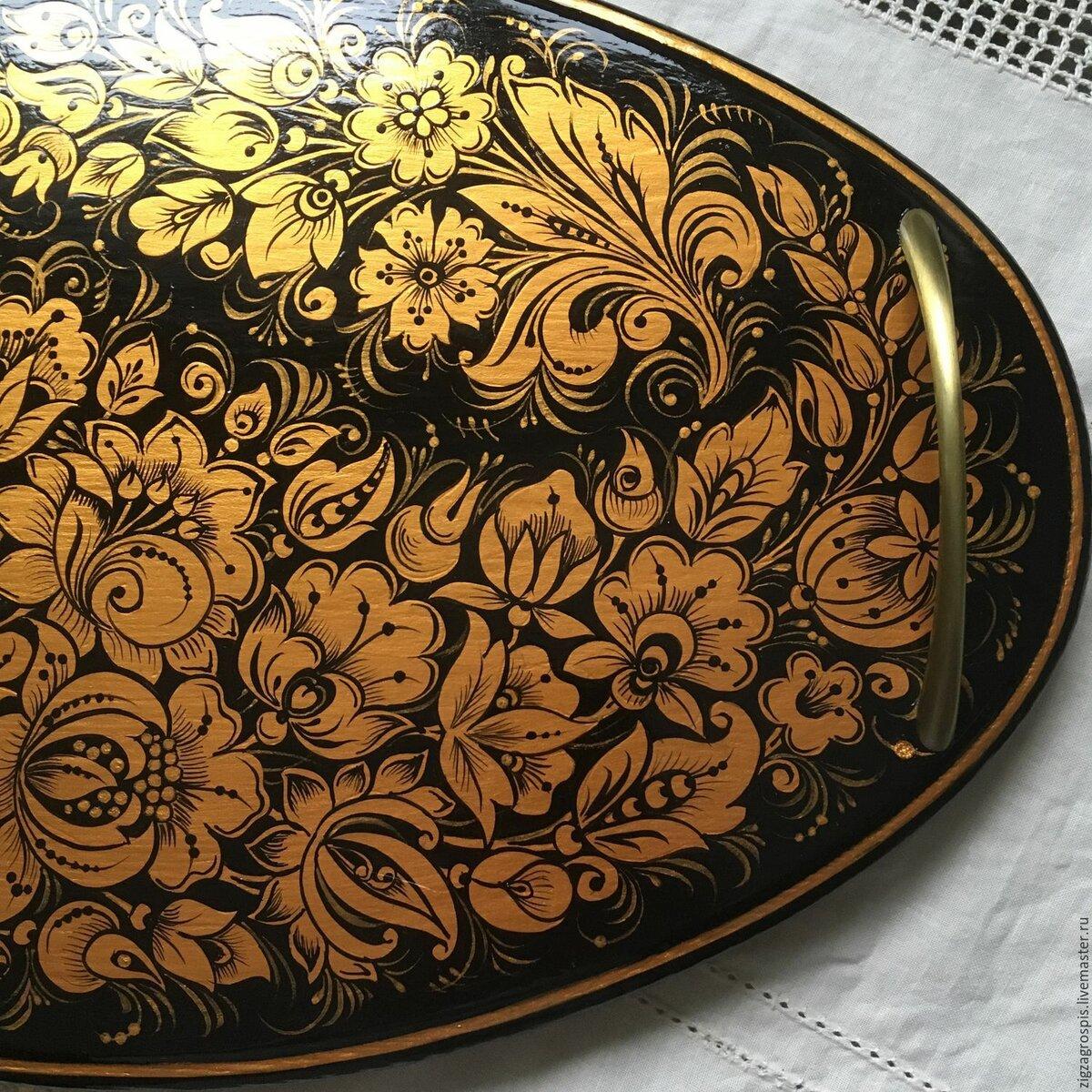 Золотая роспись картинки