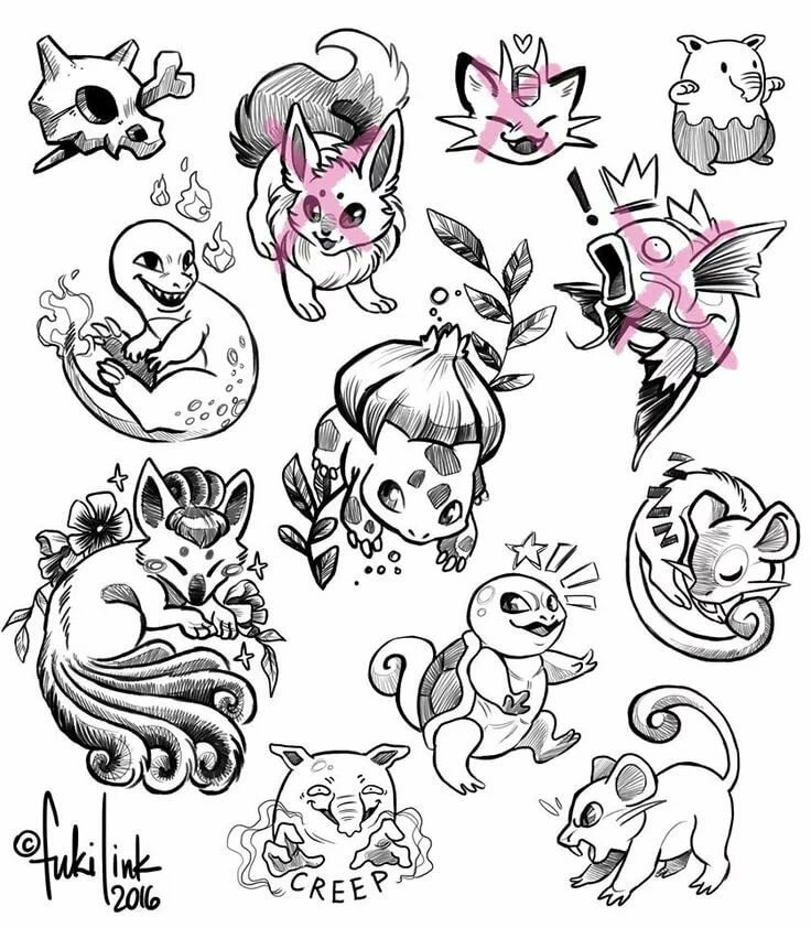 Рисовать картинки легкие красивые татуировки распечатаны