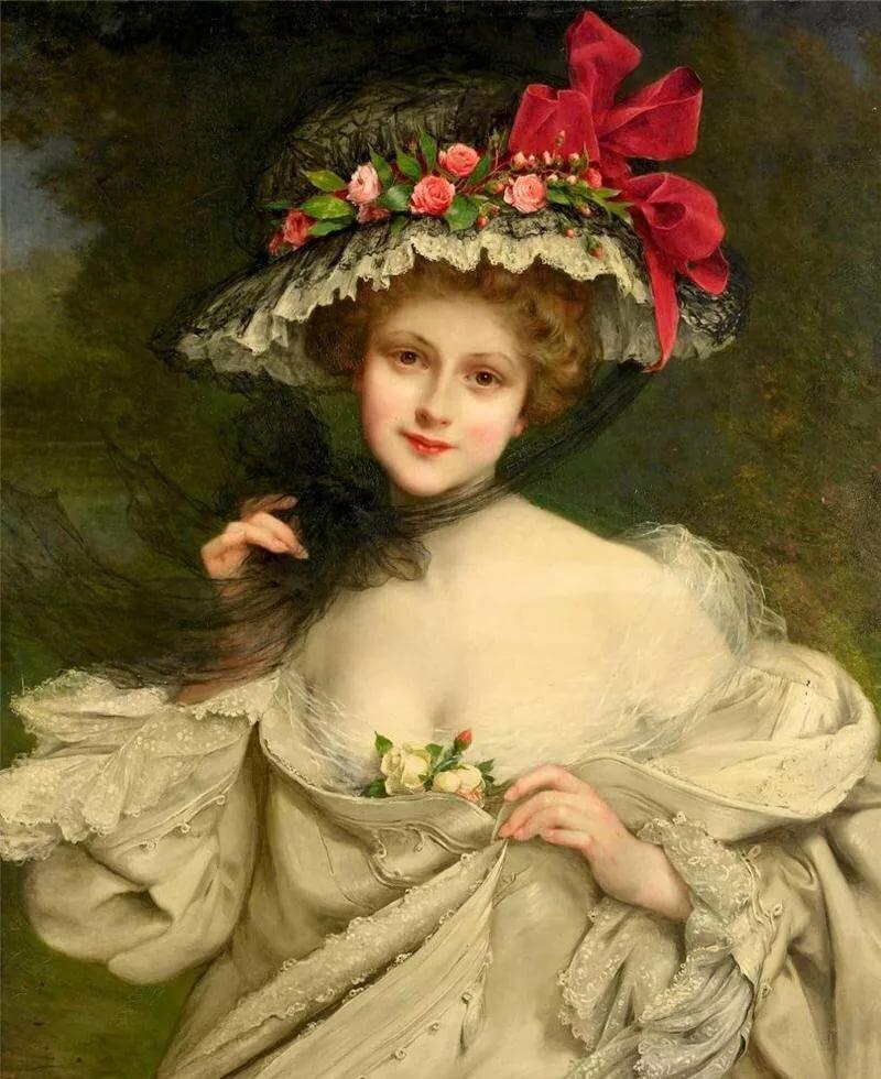 Поздравления свадьбой, старинные картинки девушек с цветами