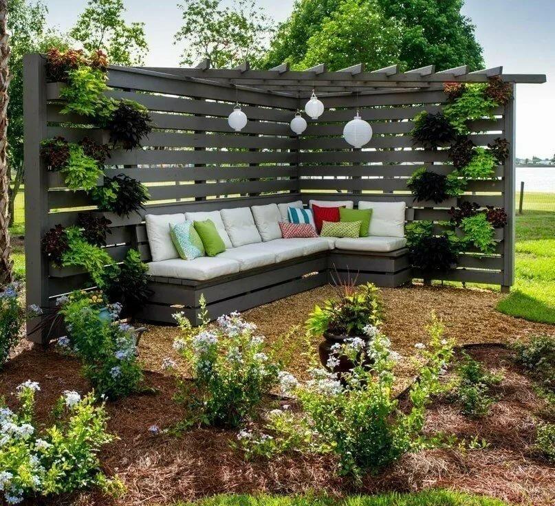 красивые фото зоны отдыха на дачном участке можно