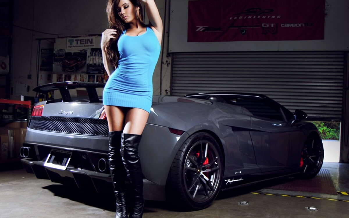 Pics of girls and cars