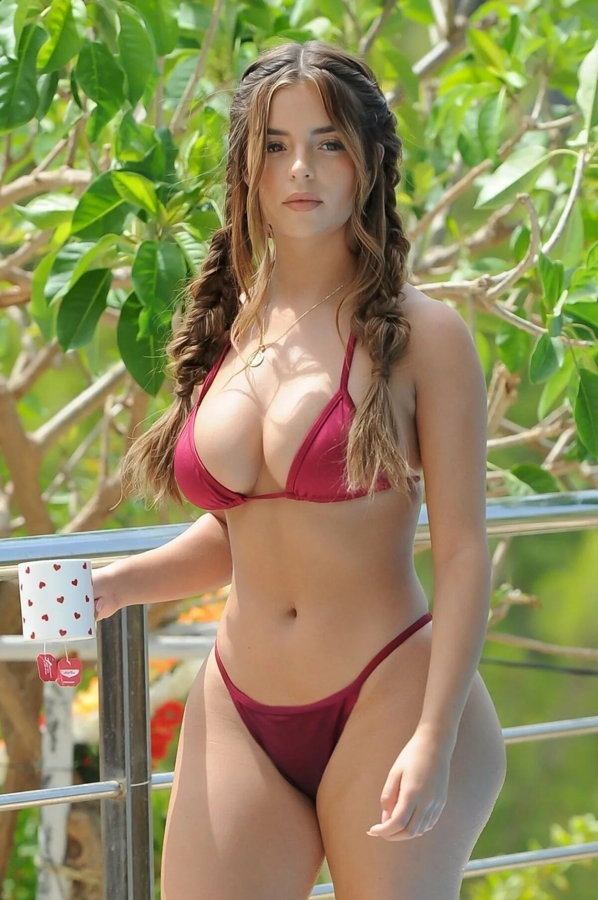 Young girl in red bikini, shoe fetish sites