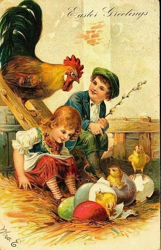 Дети и пасха открытки, завтра
