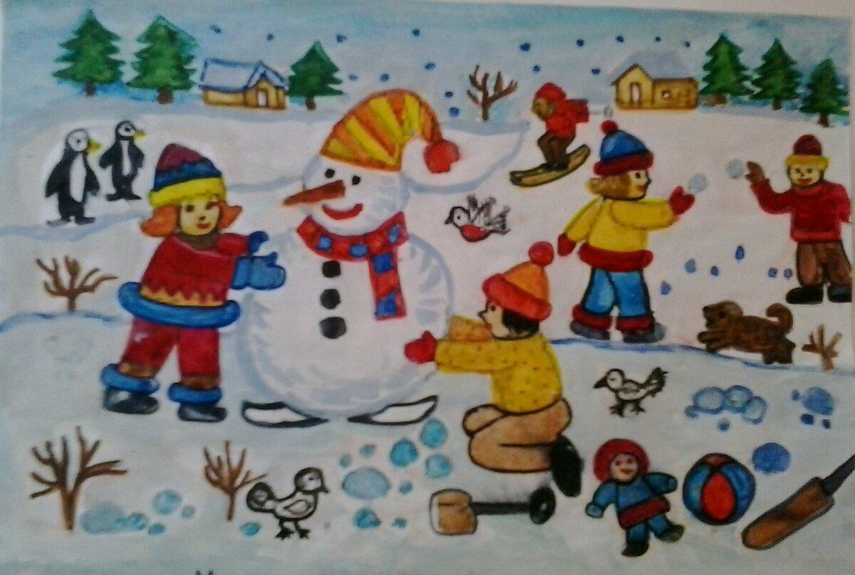 этом картинка зима зимние забавы открыл для себя