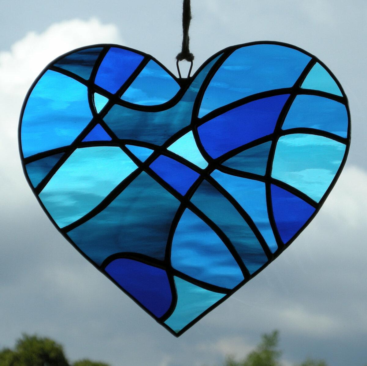 Картинки для витража с сердцами