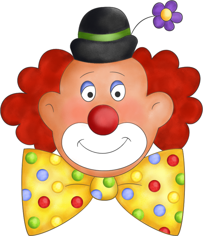Картинки смешных клоунов для детей