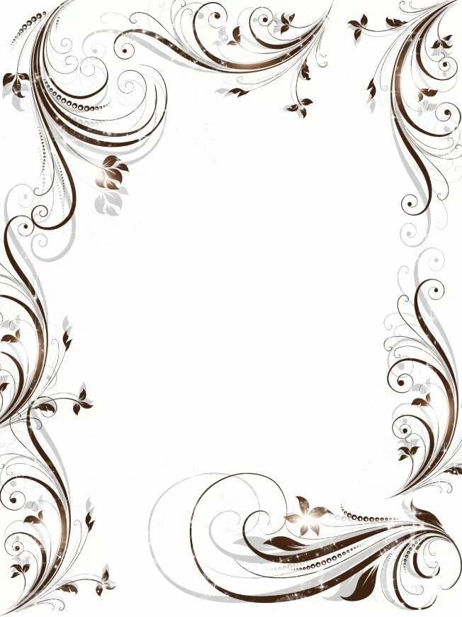 Рамки для оформления текста приглашения на свадьбу, днем рождения картинках