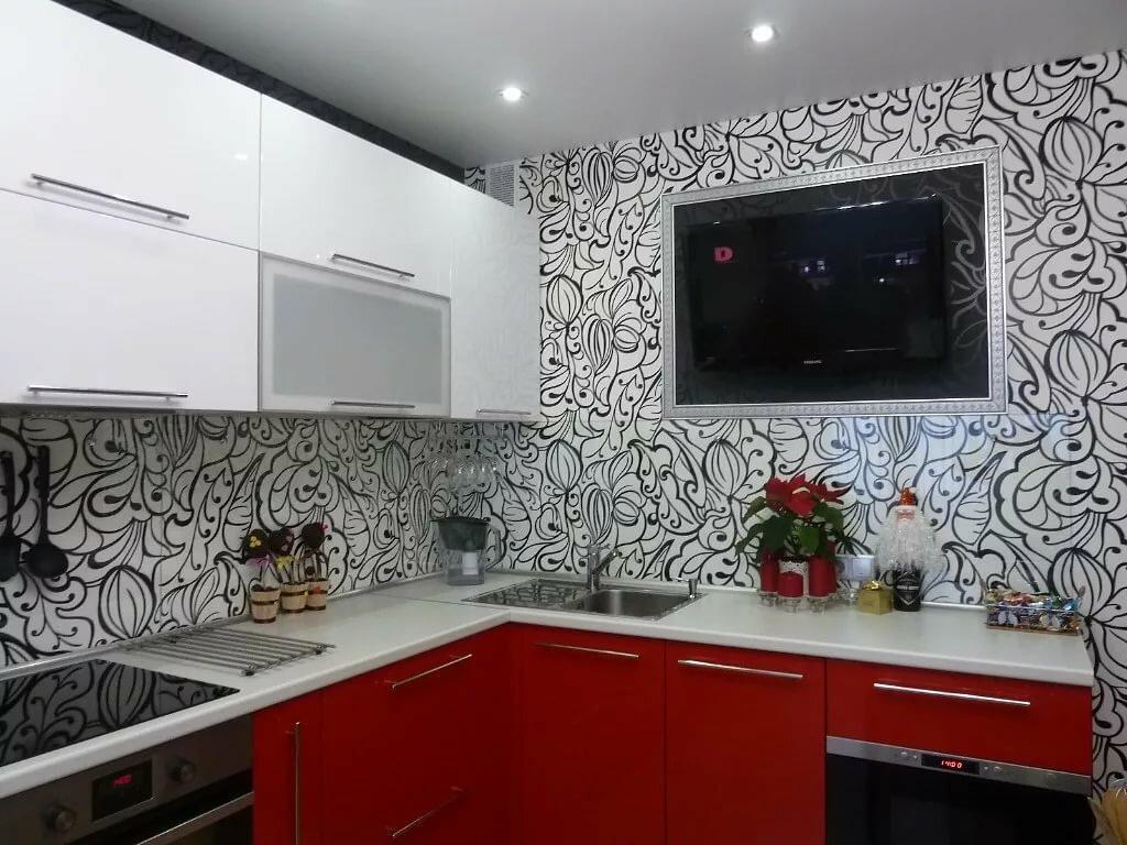 раз черно-белые обои на кухне фото удовольствием дам все