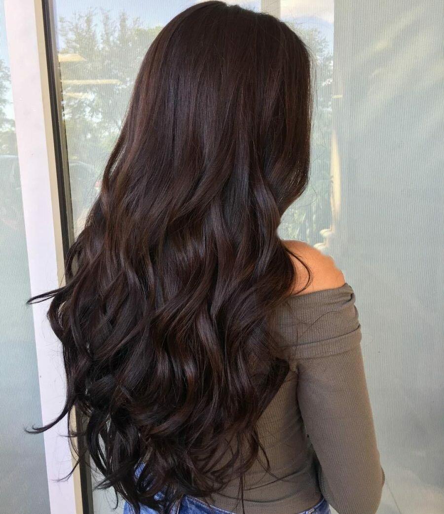 Горький шоколад волосы фото