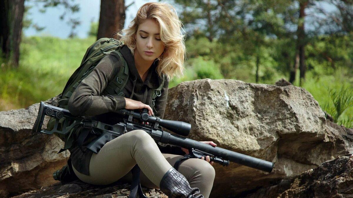 Картинки на рабочий стол девушка снайпер