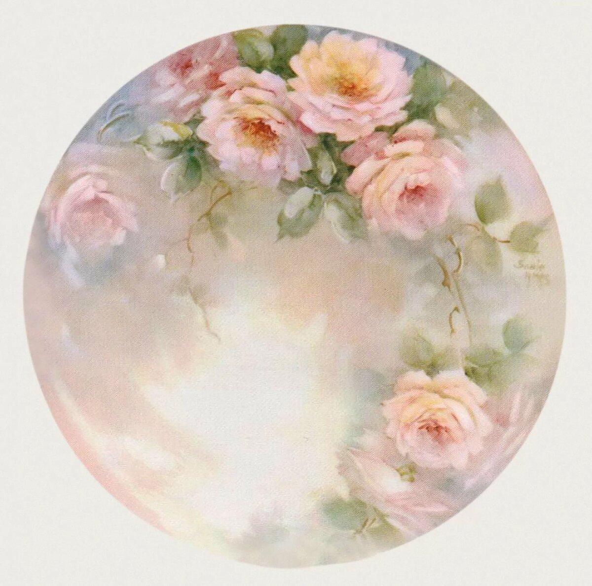 Круглые картинки для декупажа розы высокого разрешения