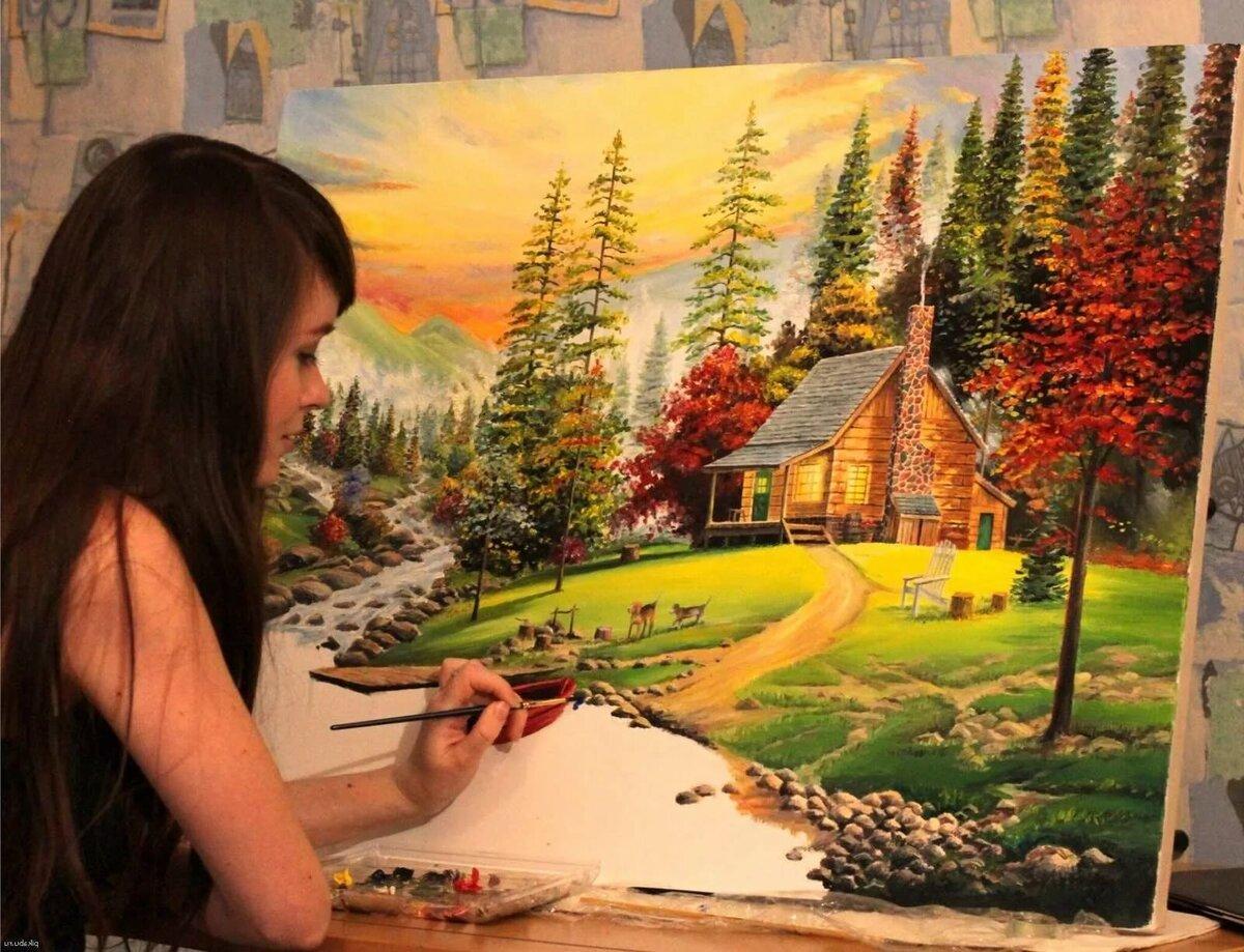 идея картинки где нарисован художником достаточно тяжелая, зато