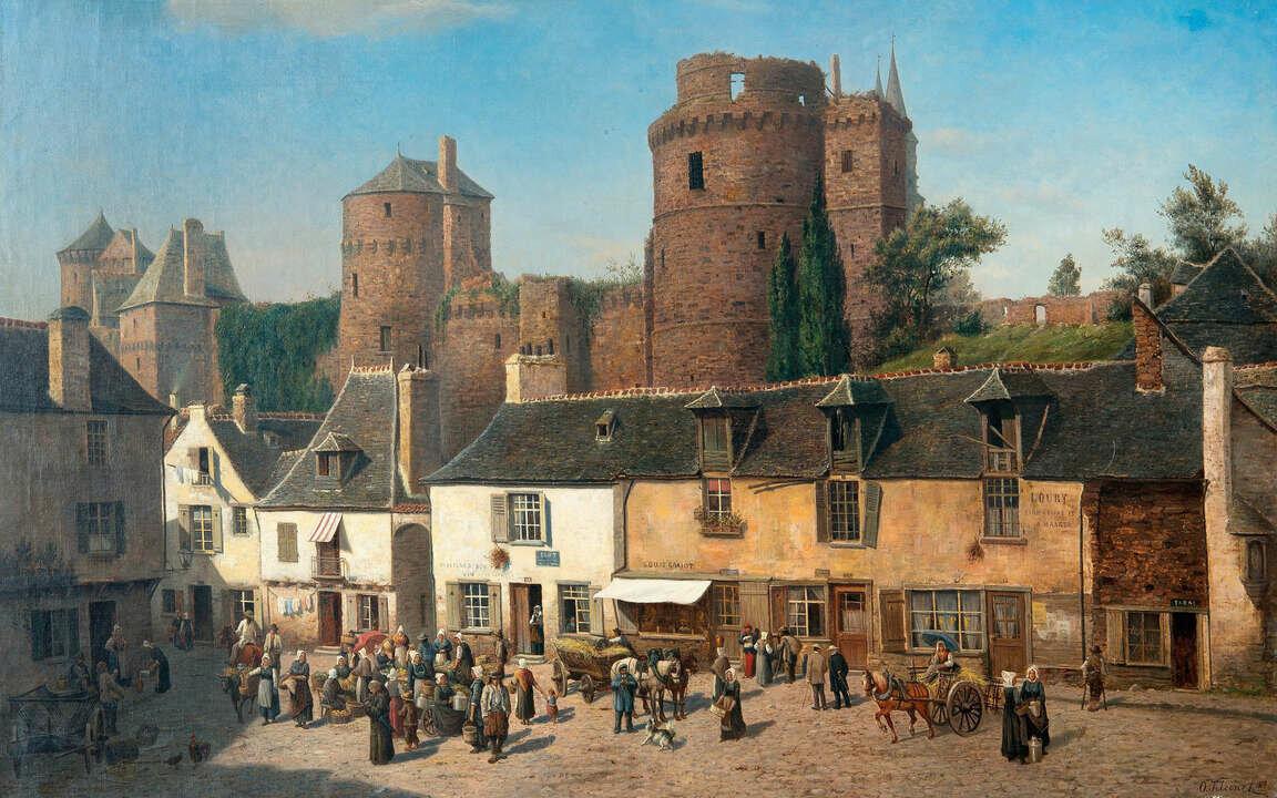 картинки средневековый город и его жители посад все