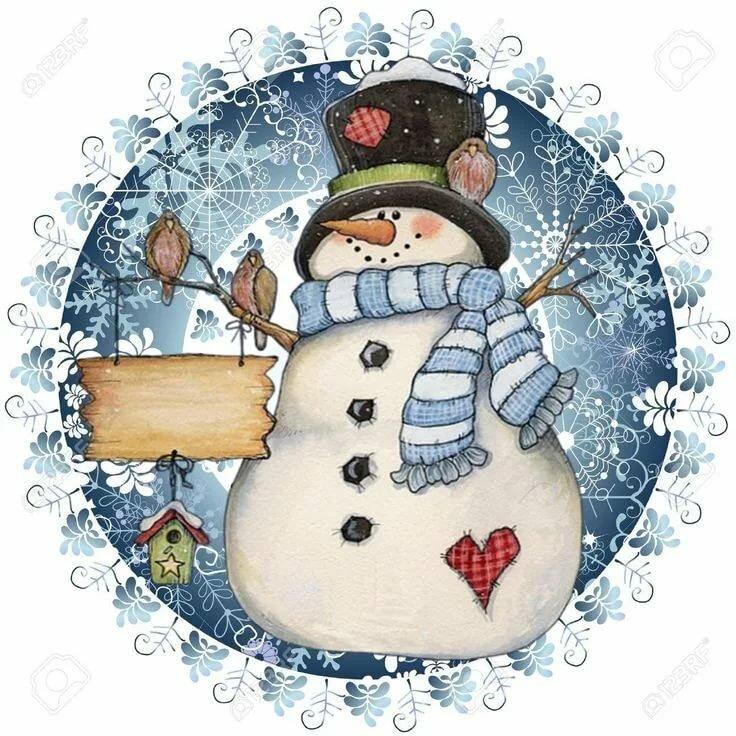 картинки декупаж снеговик нельзя