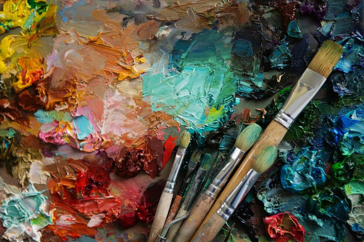 Кисточки художник краски картинки