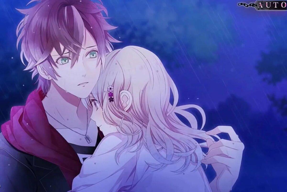 Картинки из аниме дьявольские возлюбленные аято и юи поцелуй