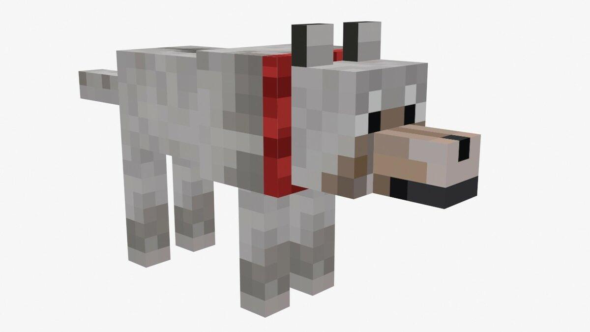 Майнкрафт картинка волка
