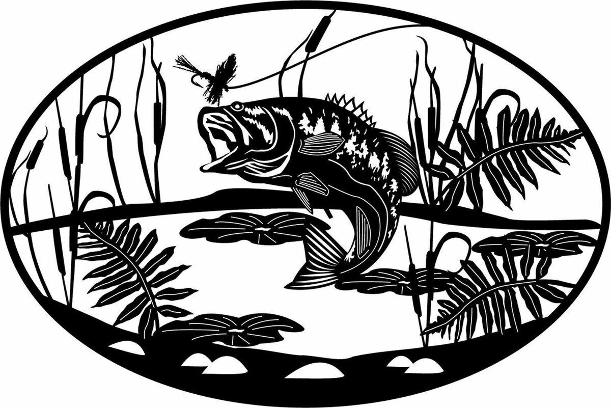 картинки рыбалка трафарет известна мире