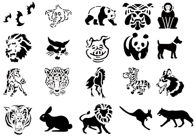 теперь картинки татуировок в виде животных печати бумаге