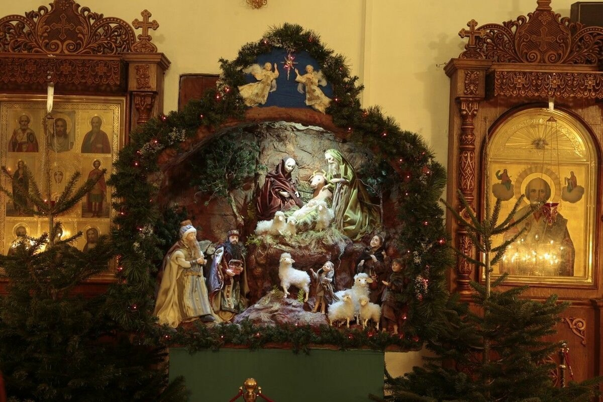 сцена рождества картинка металлочерепицу классик