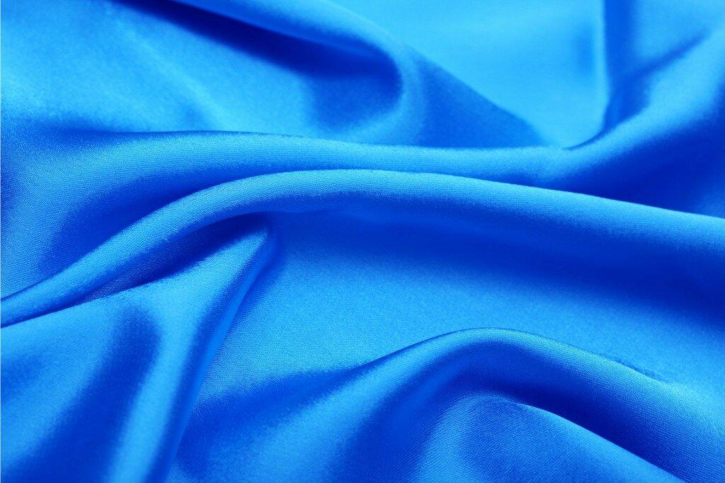 Картинка синей ткани