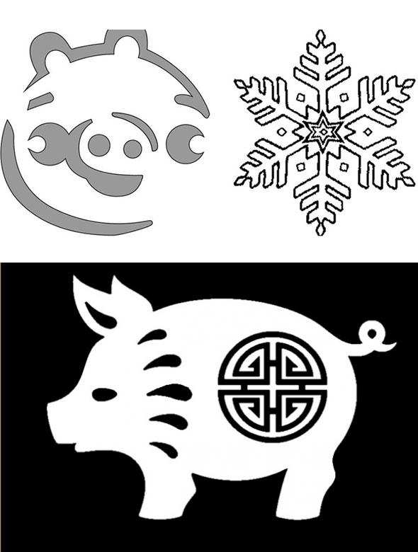 Картинки в год свиньи оформление на окна, для анимации весна