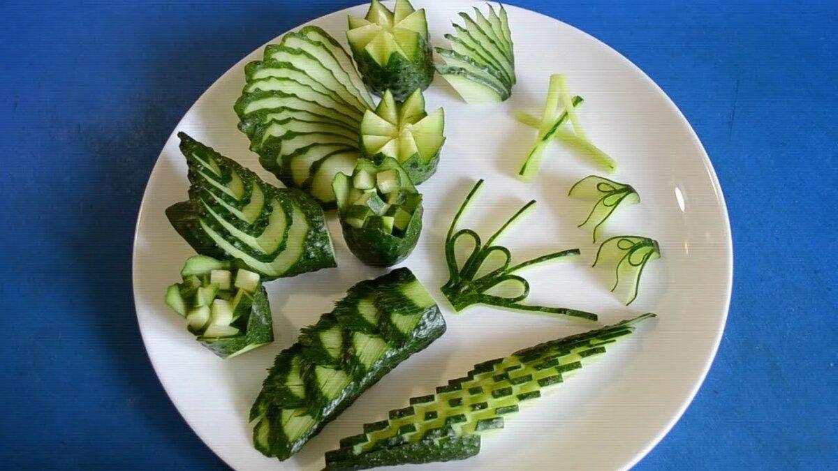 украшения из овощей дома пошагово фото можно