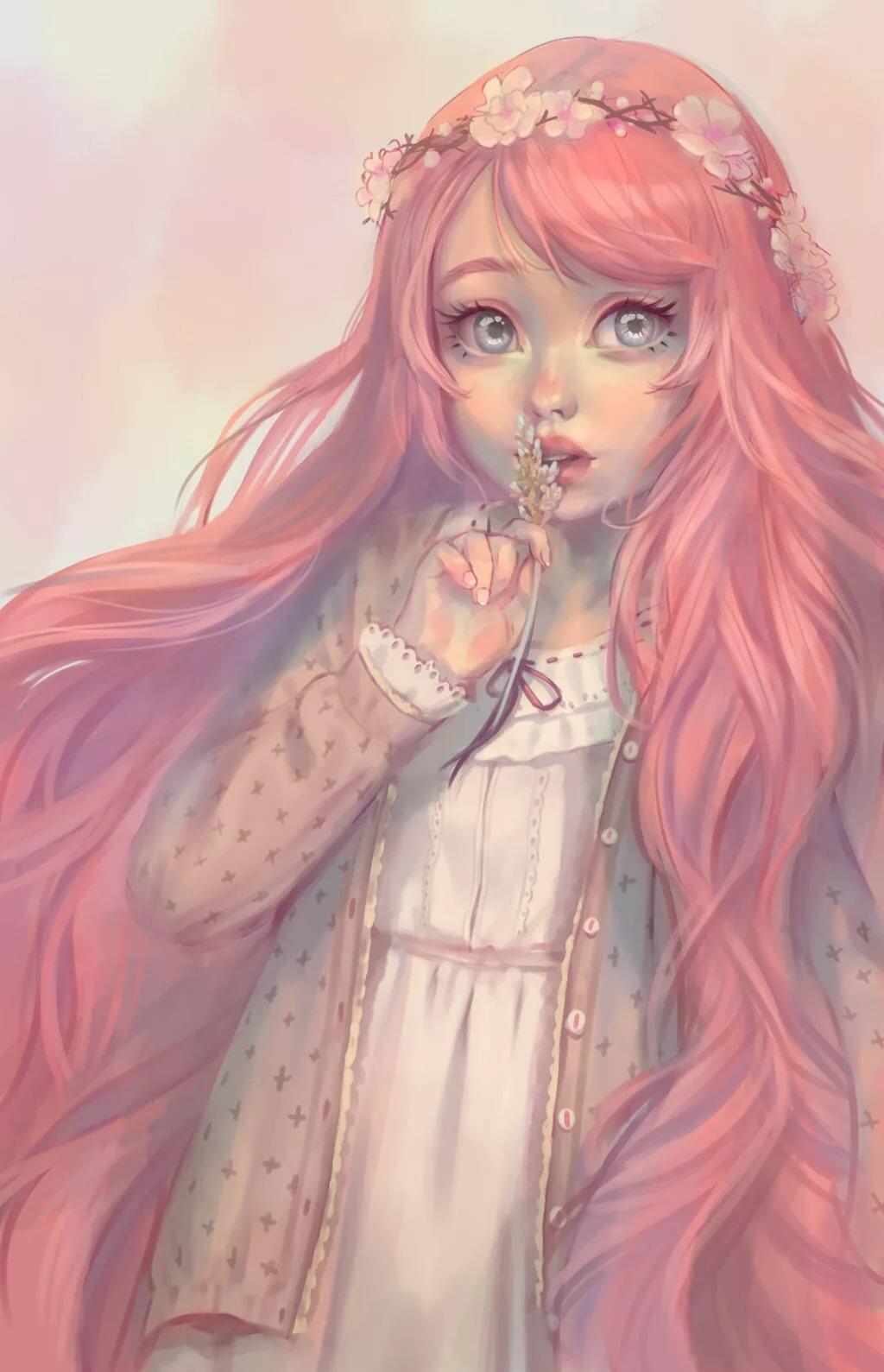 Женщина, картинки девушек нарисованные цветные милые