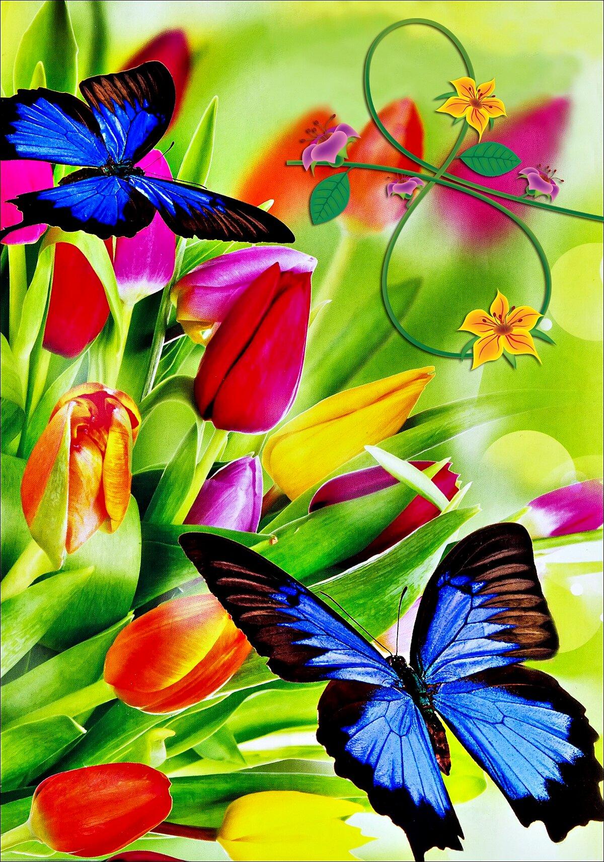Весенние пожелания из открыток