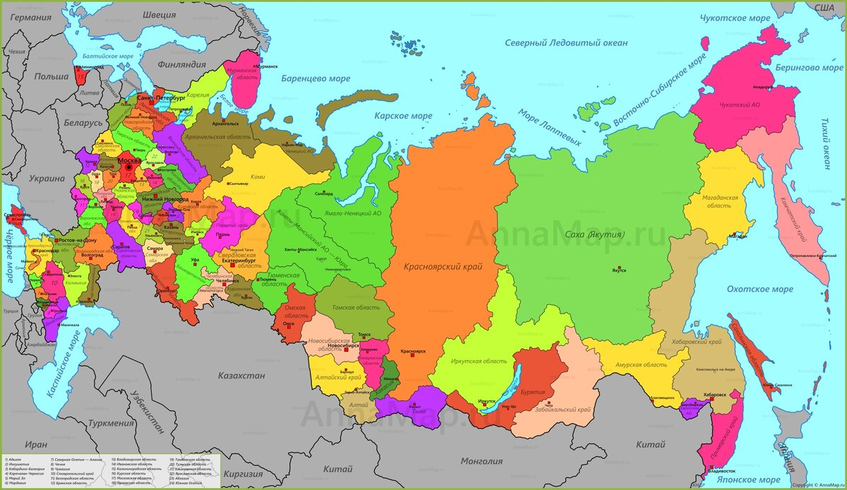 цветная карта российской федерации вещевой рынок