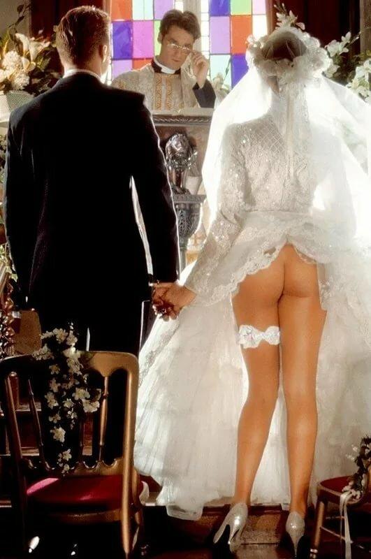 эротика невеста на свадьбе русской бане получаются