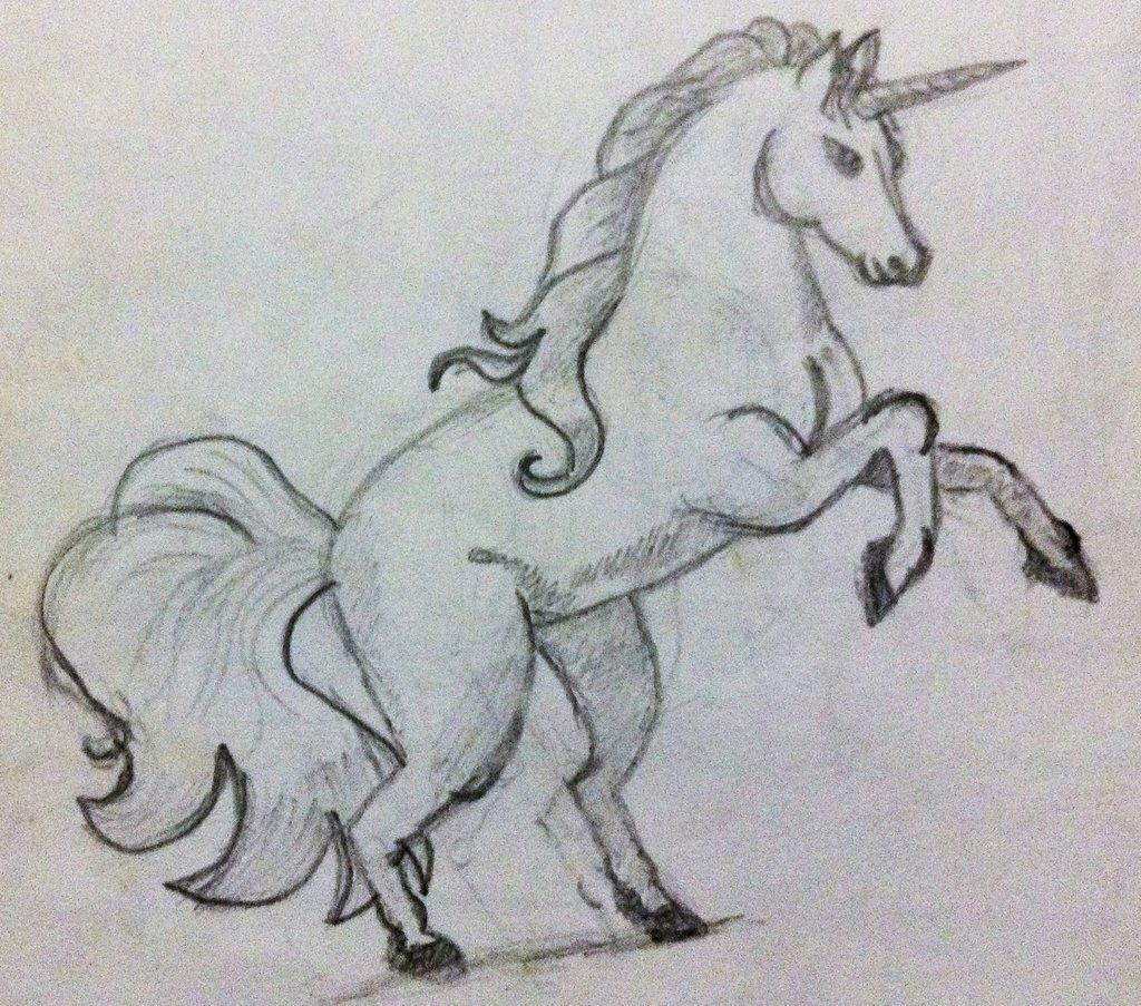 Для, прикольные рисунки единорогов карандашом