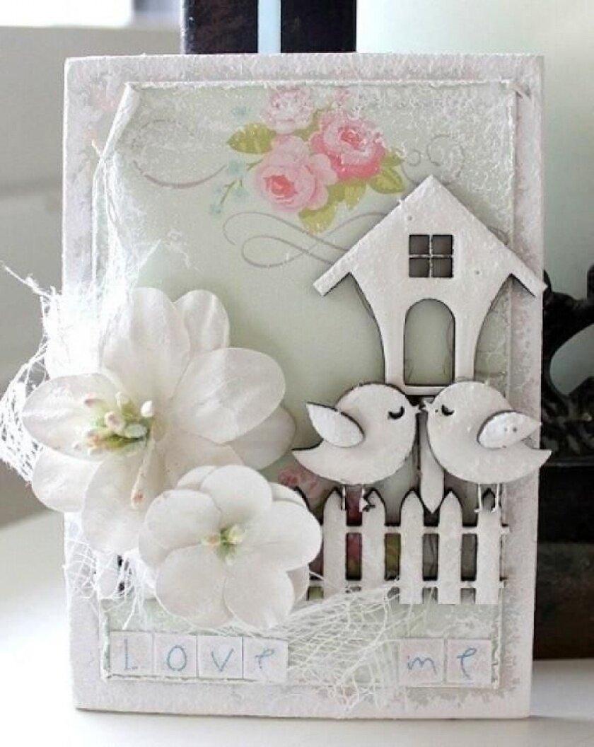 Бумажная свадьба скрапбукинг открытка, тюремные