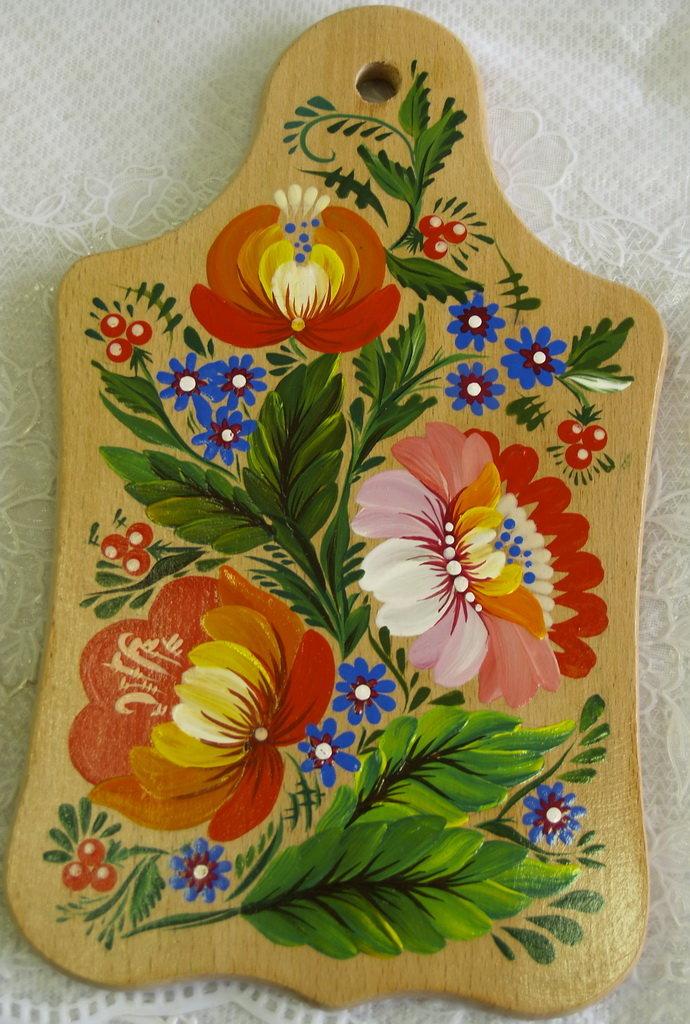 Роспись на деревянной доске картинки