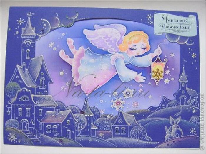 Открытка на рождество рисунок своими руками, новым годом