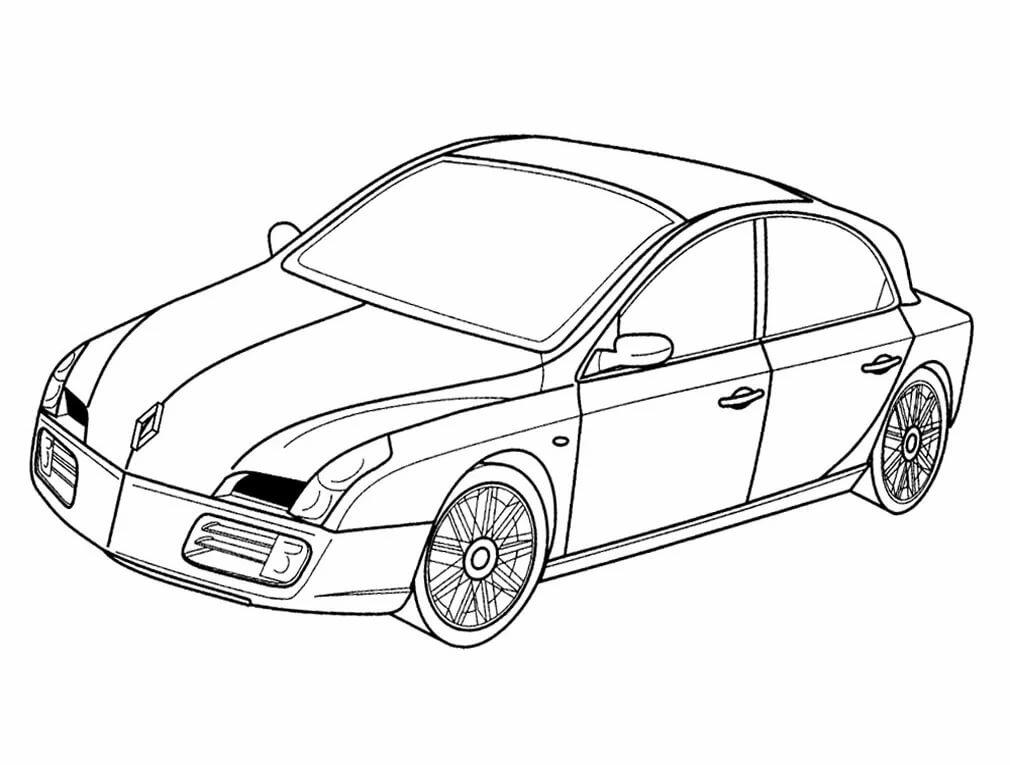 декоративных раскраски легковые автомобили распечатать девочки даже печатали