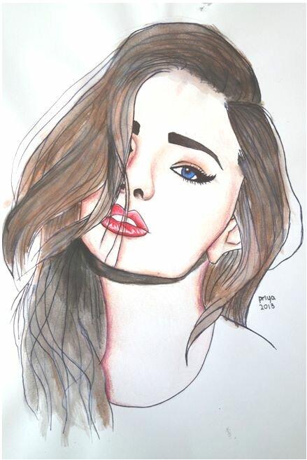 Pretty Girl Drawings Tumblr Girl Drawing On Tumblr Drawing Ideas