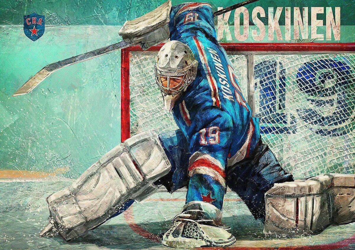 картинки арт животные хоккей