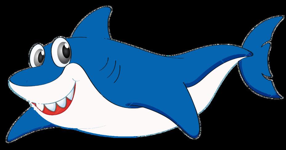 Смешной рисунок акулы, продает своем