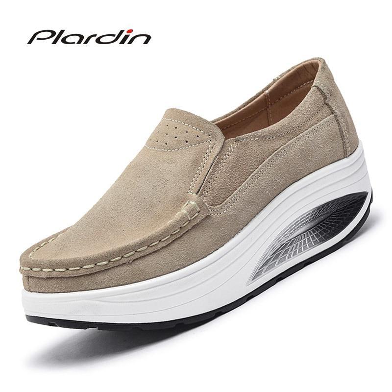0f03ebf49 «Plardin/Новая Осенняя женская обувь на плоской подошве с бахромой обувь на  платформе из замши повседневная обувь без шнуровки на плоской подош.