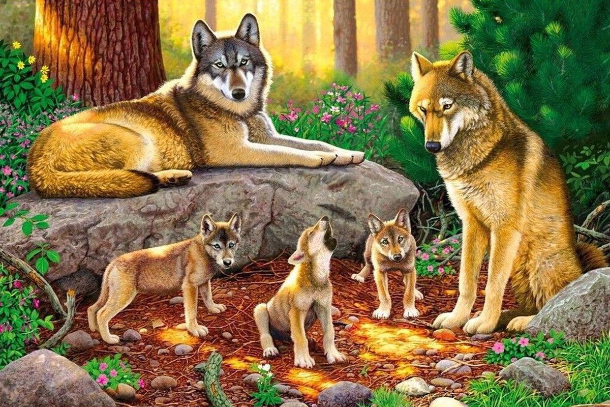 Картинка с волком детская