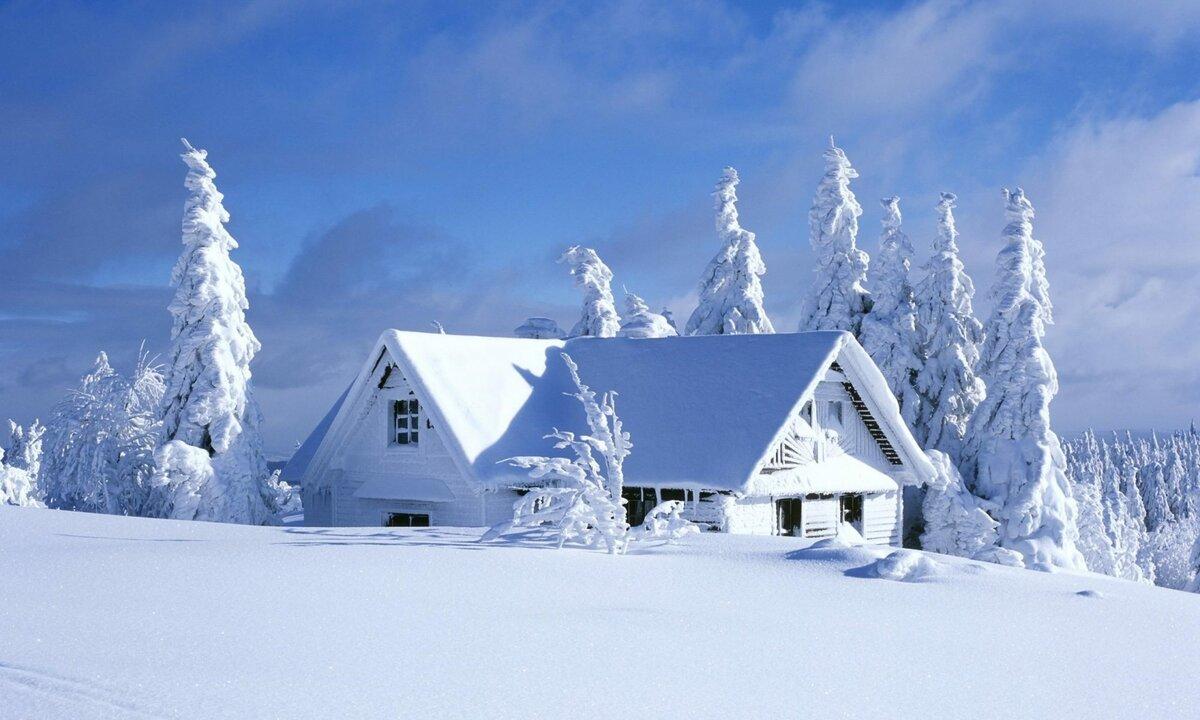 Открытки днем, картинка зима природа