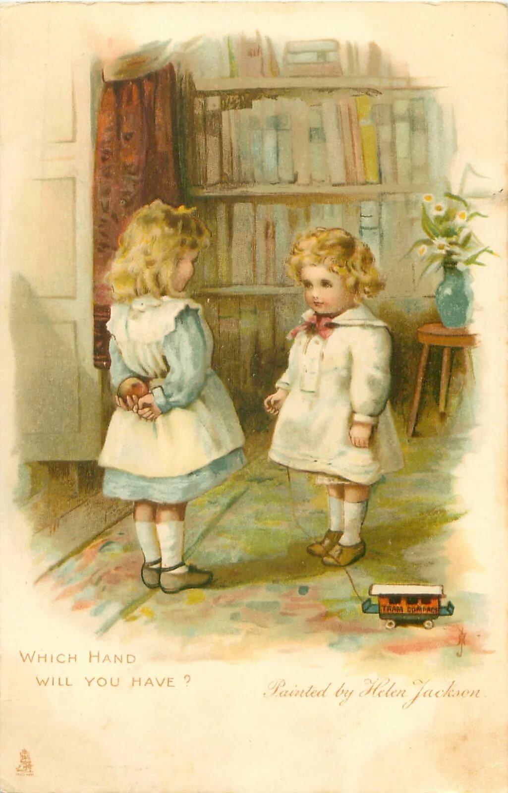 почтовые открытки с детьми