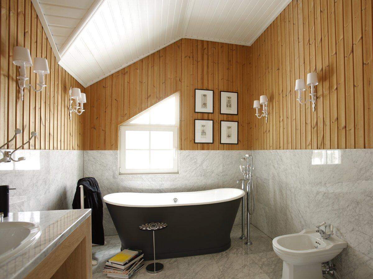 ванная обшитая вагонкой