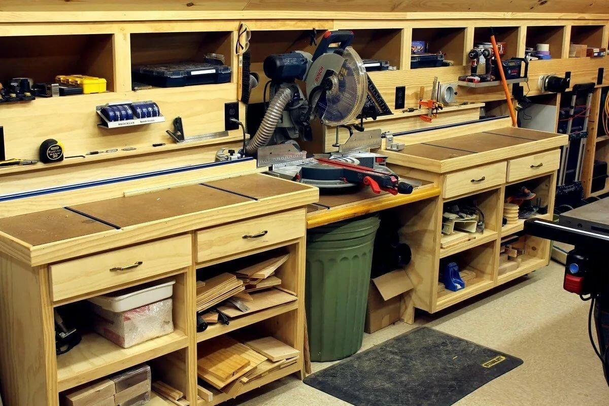 пусть мебель в гараж своими руками фото проект делали первые фотографии