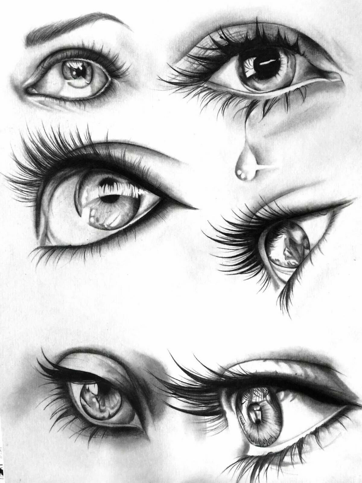 картинки как рисуют глаза причёски подойдут женщинам