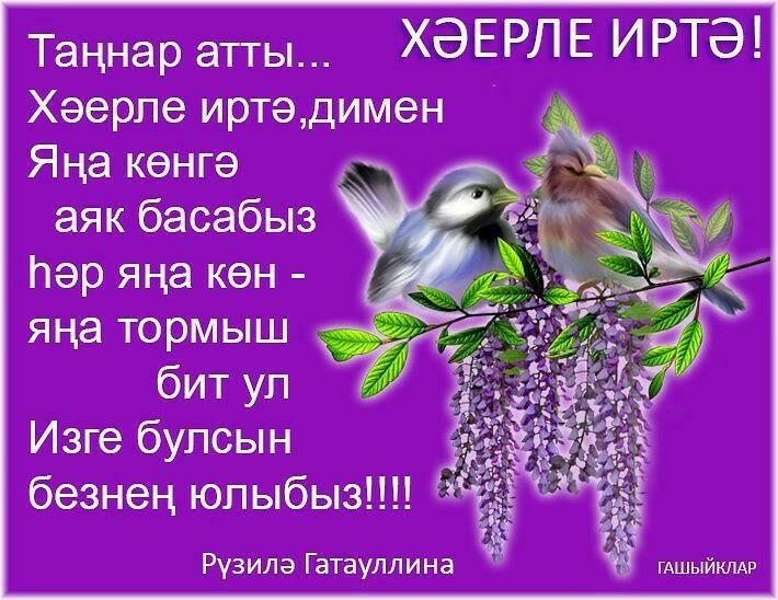 С добрым утром на татарском языке открытки, всемирным днем