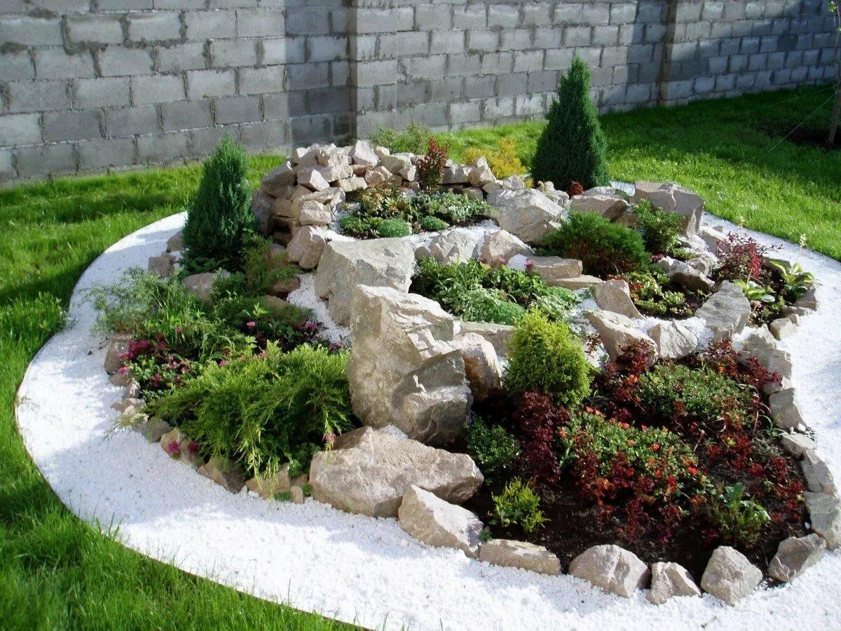 Композиции с камнями в саду фото