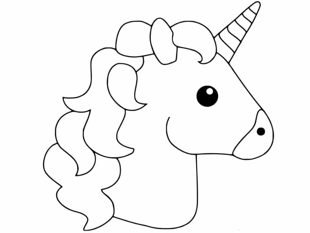 Единорог черно белый рисунок распечатать